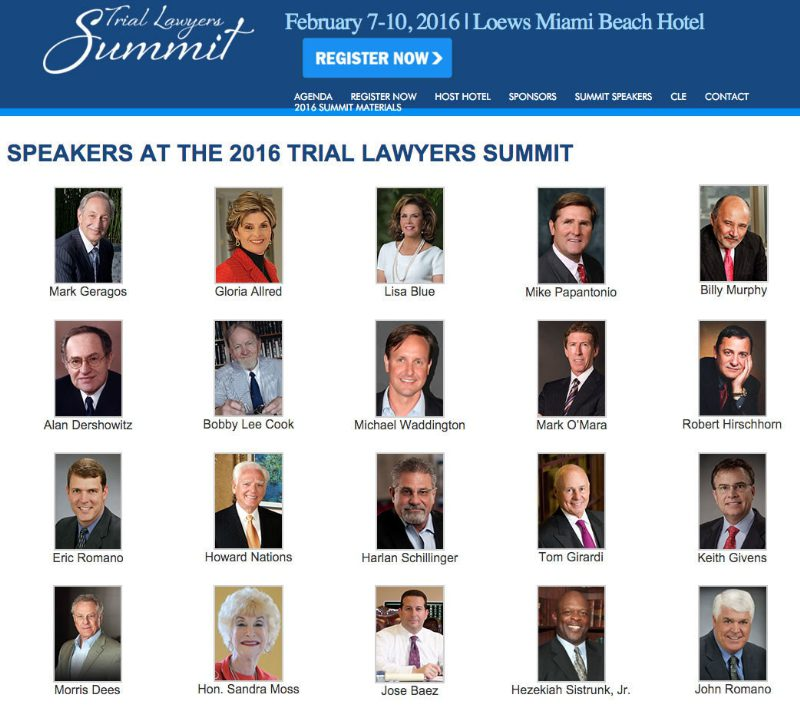 Trial Lawyers Summit 2016 (PRNewsFoto/Gonzalez & Waddington, LLC)